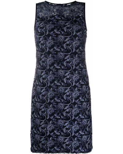 Синее платье трапеция в цветочный принт Lauren Ralph Lauren