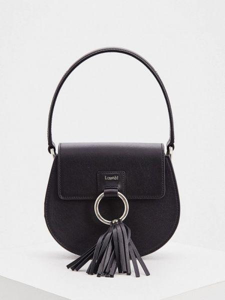 Черная сумка с перьями Laurèl