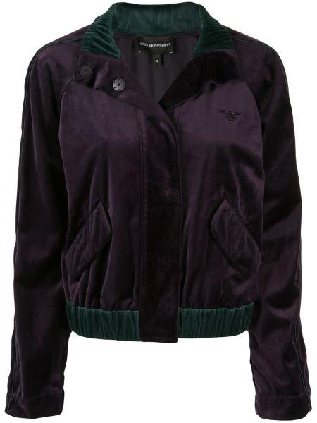 Фиолетовая куртка с манжетами Emporio Armani
