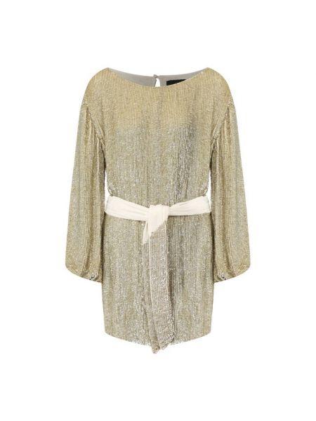 Платье с поясом винтажная Retrofete