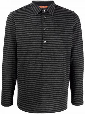 Czarna koszulka z długimi rękawami Barena