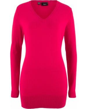 Пуловер вязаный с V-образным вырезом Bonprix