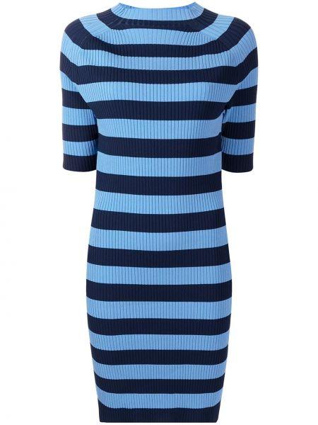 Платье в полоску - синее Michael Kors