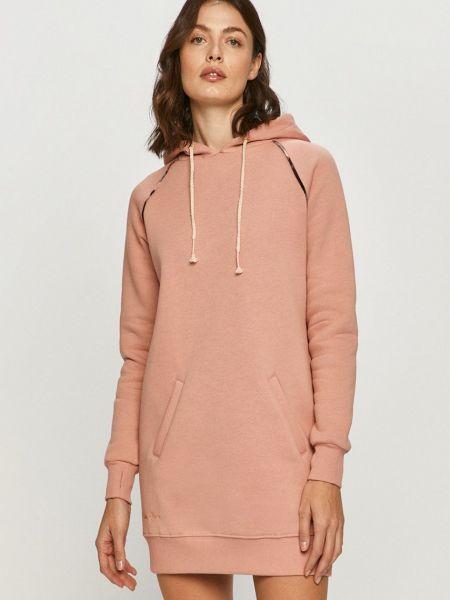 Прямое розовое платье с длинными рукавами Femi Stories
