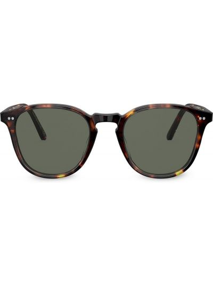 Солнцезащитные очки хаки круглые Oliver Peoples