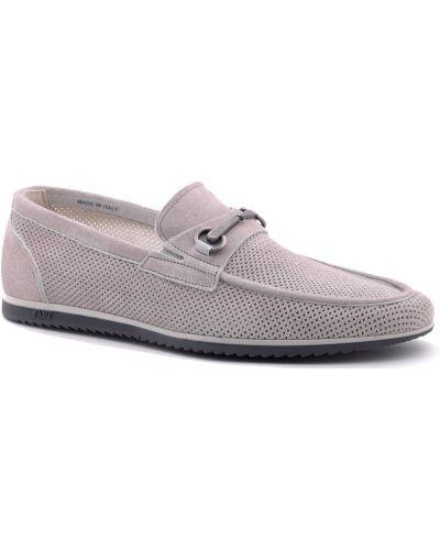 Туфли с перфорацией замшевые Fabi