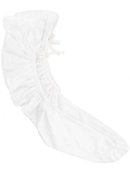 Białe skarpety z falbanami Comme Des Garcons