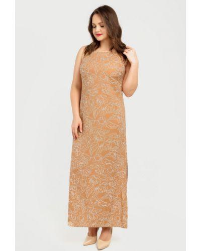 Повседневное прямое платье макси без рукавов Liza Fashion