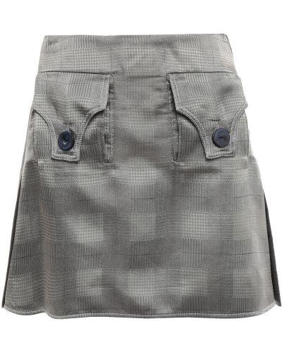 Ażurowa szara spódnica mini z wiskozy Ellery