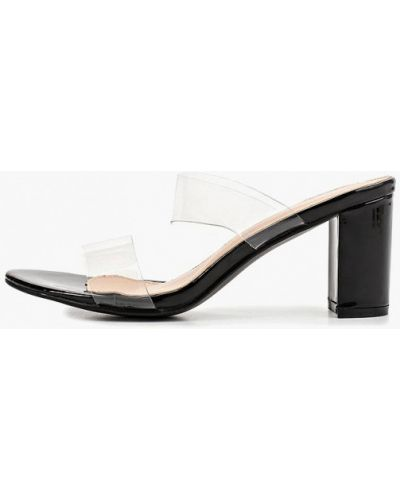Сабо черные на каблуке Style Shoes