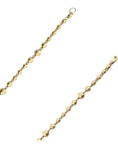 Золотой браслет с подвесками из золота желтый НАЦИОНАЛЬНОЕ ДОСТОЯНИЕ