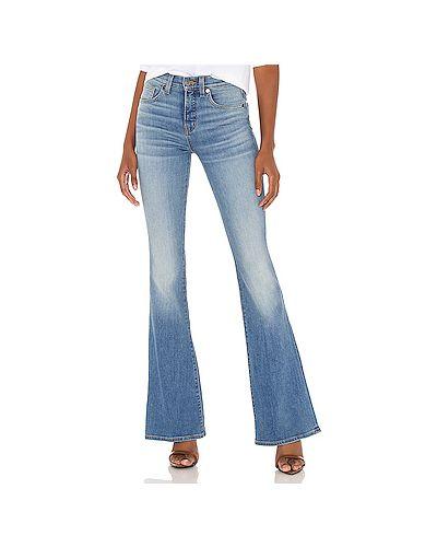 Хлопковые синие джинсы с карманами на молнии Veronica Beard