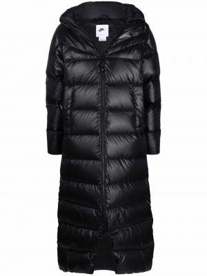 Czarny długi płaszcz Nike
