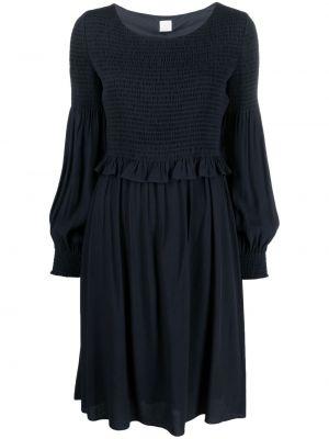 Синее платье из вискозы круглое Boss Hugo Boss