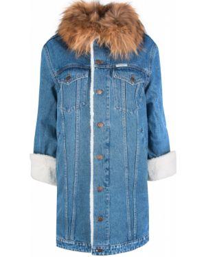 Утепленная куртка джинсовая на пуговицах Forte Couture