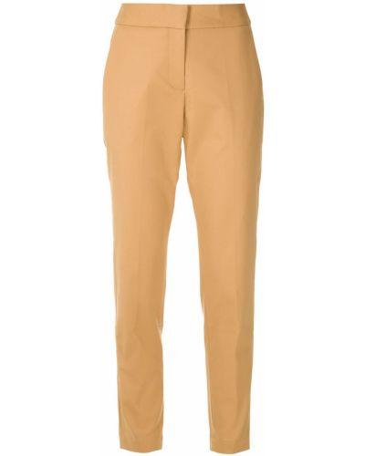 Хлопковые прямые брюки с карманами Andrea Marques