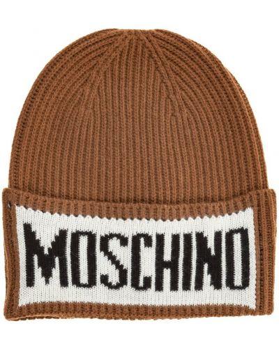Brązowa czapka Moschino
