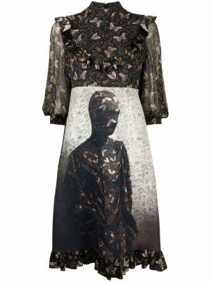 Черное шелковое платье Undercover