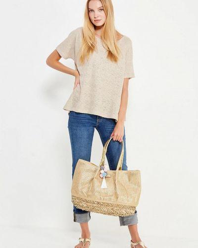 Кожаный сумка золотого цвета Noryalli