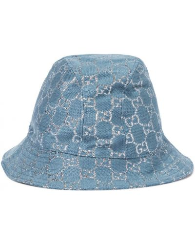 Niebieski wełniany kapelusz Gucci