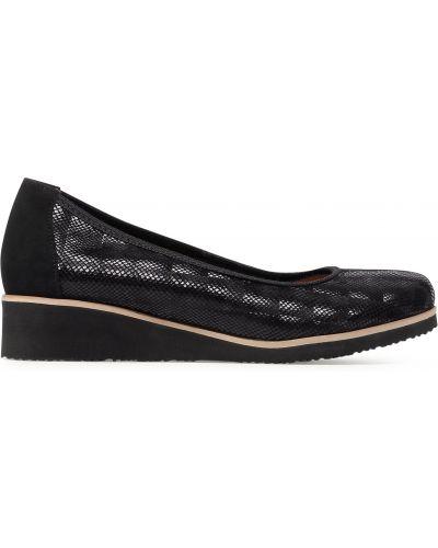 Туфли на танкетке - черные R.polański