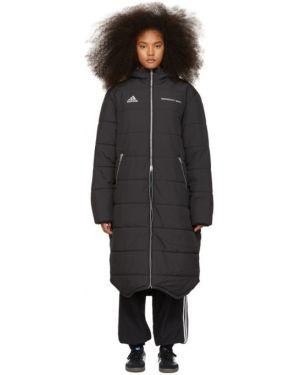 Куртка с капюшоном черная длинная гоша рубчинский