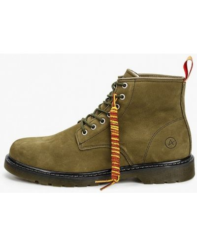 Кожаные ботинки - зеленые Affex