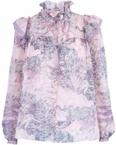 Блузка с длинным рукавом кружевная с рюшами Marc Jacobs