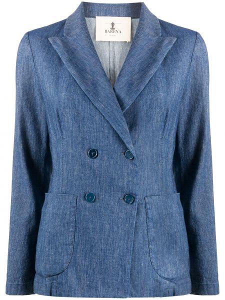 Куртка на пуговицах синий Barena