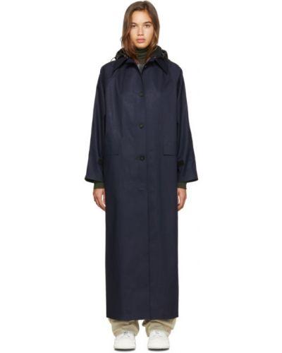 Пальто с капюшоном длинное без воротника Kassl Editions