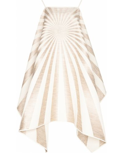 Брендовое бежевое платье с люрексом Gareth Pugh