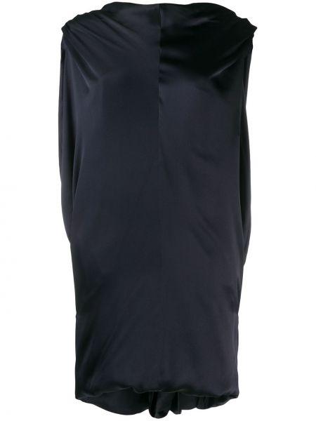 Приталенное платье мини с драпировкой без рукавов свободного кроя Poiret