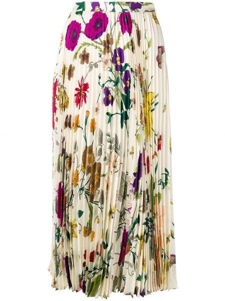 Домашняя классическая юбка миди на молнии в рубчик Gucci