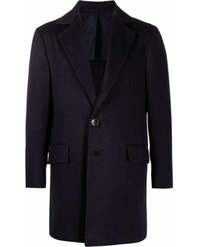 Niebieski płaszcz Kiton
