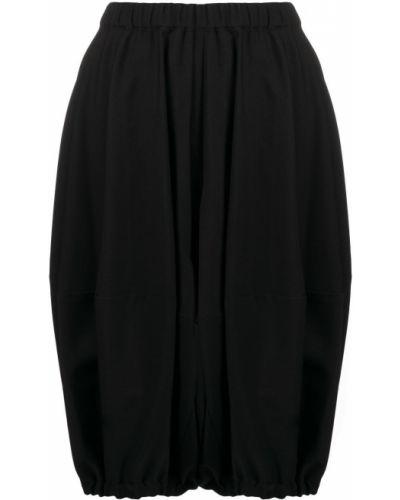 Черные с завышенной талией шорты с поясом Comme Des Garçons Girl