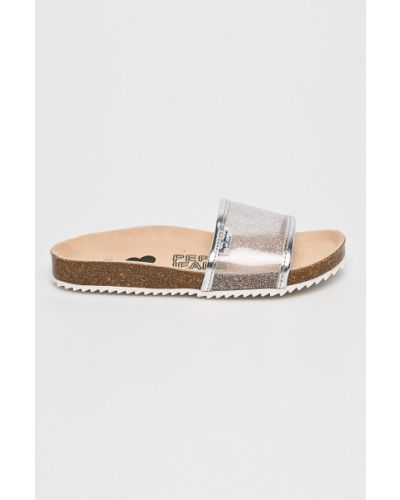 Босоножки серебряный Pepe Jeans