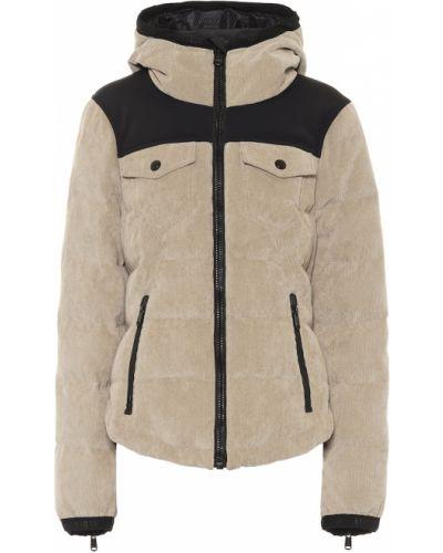 Бежевая текстильная куртка Goldbergh