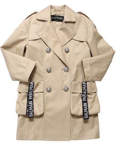 Płaszcz na przyciskach dwurzędowy Balmain
