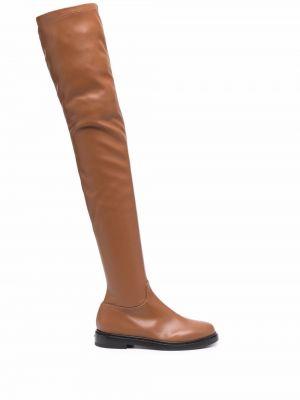 Коричневые кожаные сапоги Le Silla