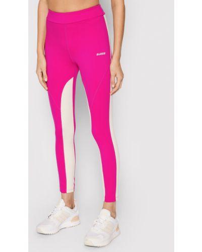 Różowe legginsy Guess
