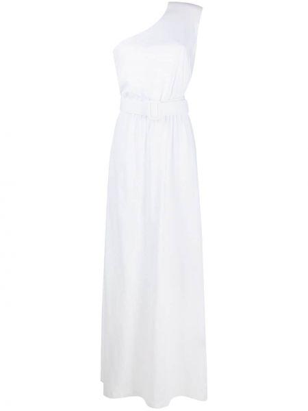 Хлопковое белое платье макси без рукавов Federica Tosi