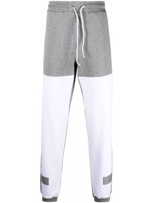 Флисовые серые спортивные брюки с поясом Iceberg