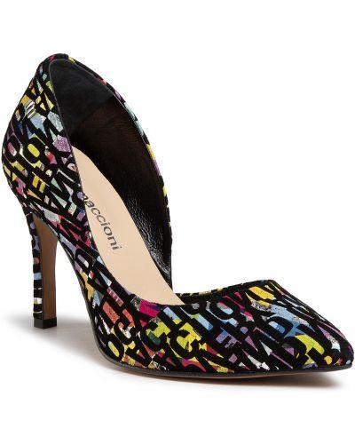 Туфли на каблуке - черные Maccioni