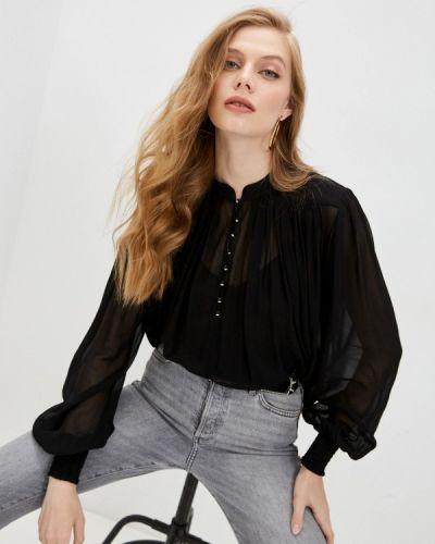 Черная блузка с длинными рукавами The Kooples