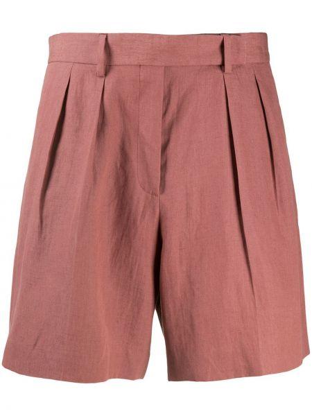 Розовые шорты с карманами свободного кроя с потайной застежкой Paul Smith