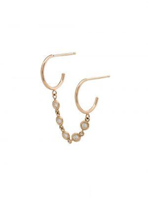 Золотые серьги металлические с бриллиантом Zoë Chicco