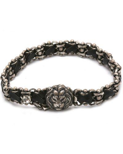 Черный браслет с камнями Amaro