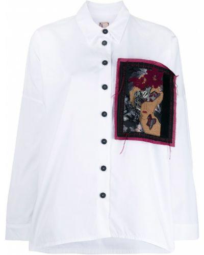Рубашка с длинным рукавом белая в полоску Antonio Marras