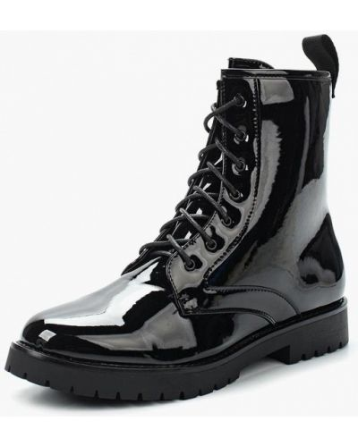 Кожаные ботинки осенние черные Jennyfer