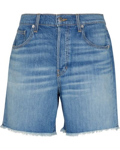 Ватные хлопковые синие джинсовые шорты Veronica Beard